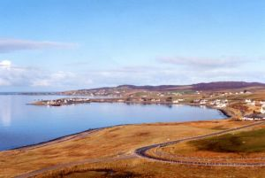 The view across Loch Ewe from the south towards Aultbea and Ormiscaig.